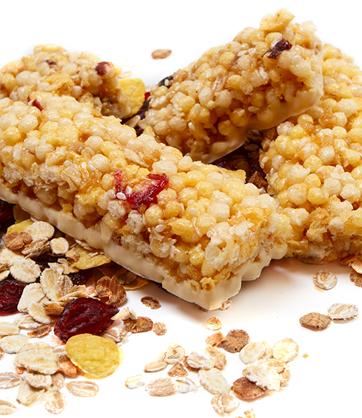 Barritas de cereal de amaranto y chía